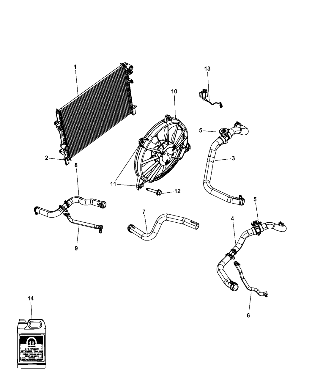 dodge journey engine cooling diagram