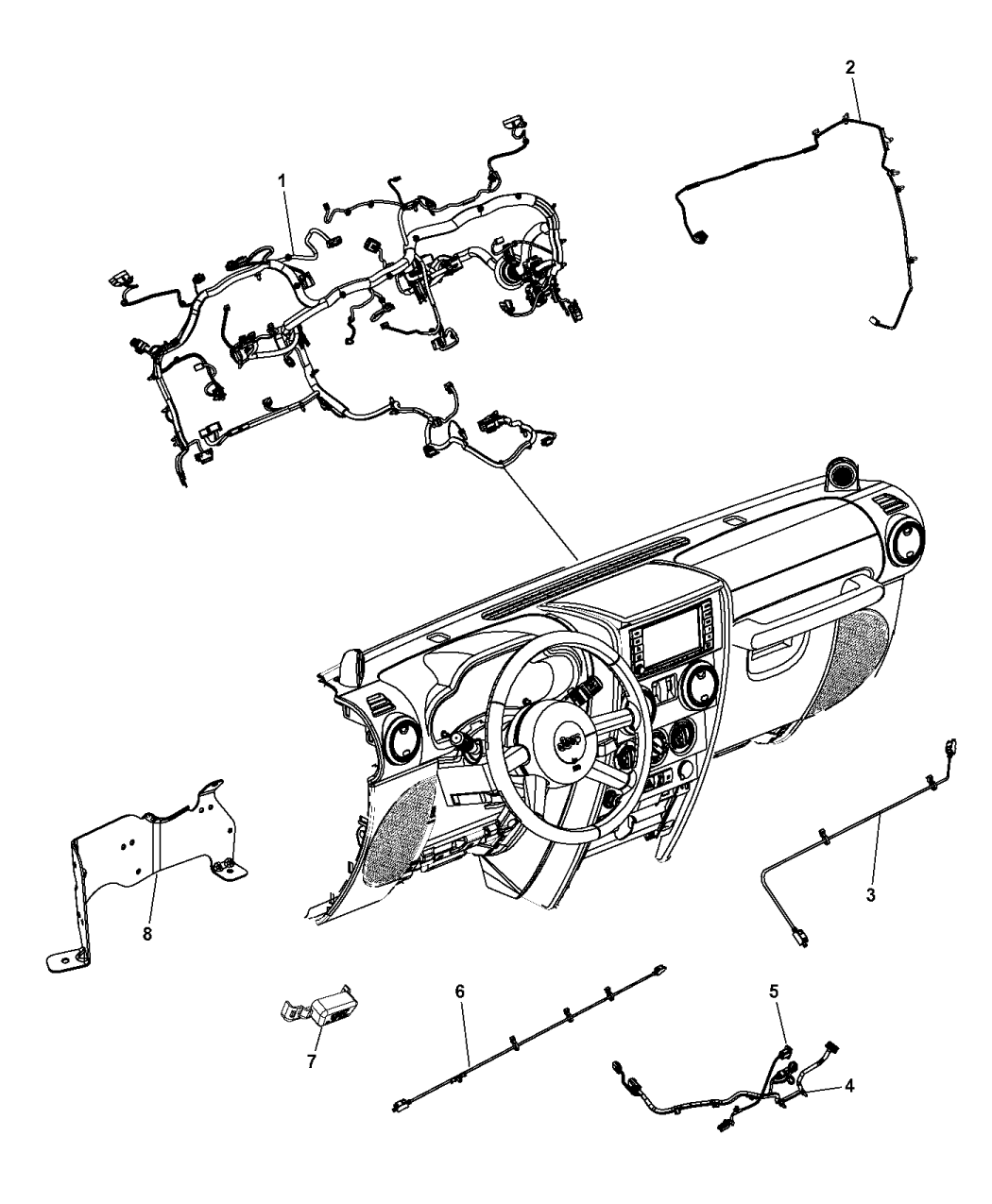68165059ab Genuine Mopar Wiring Jumper Diagrams Instrument Panel 2015 Jeep Wrangler
