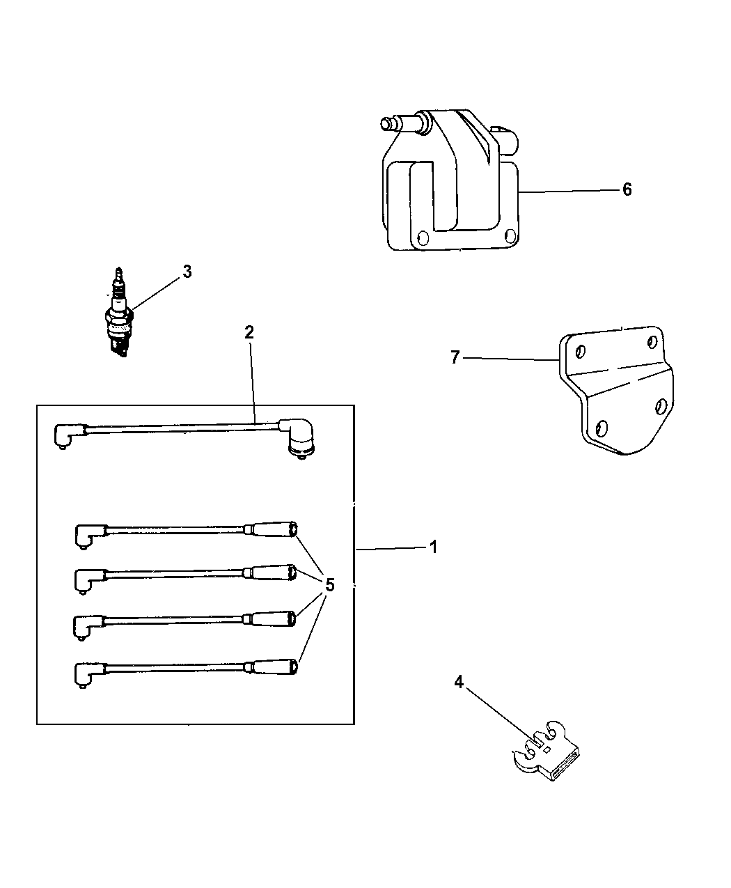 1999 Jeep Cherokee Cable Spark Plug  U0026 Wires