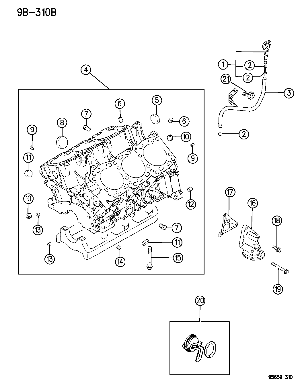 4609073 Genuine Dodge Wiring 1995 Avenger Engine Diagram Cylinder Block
