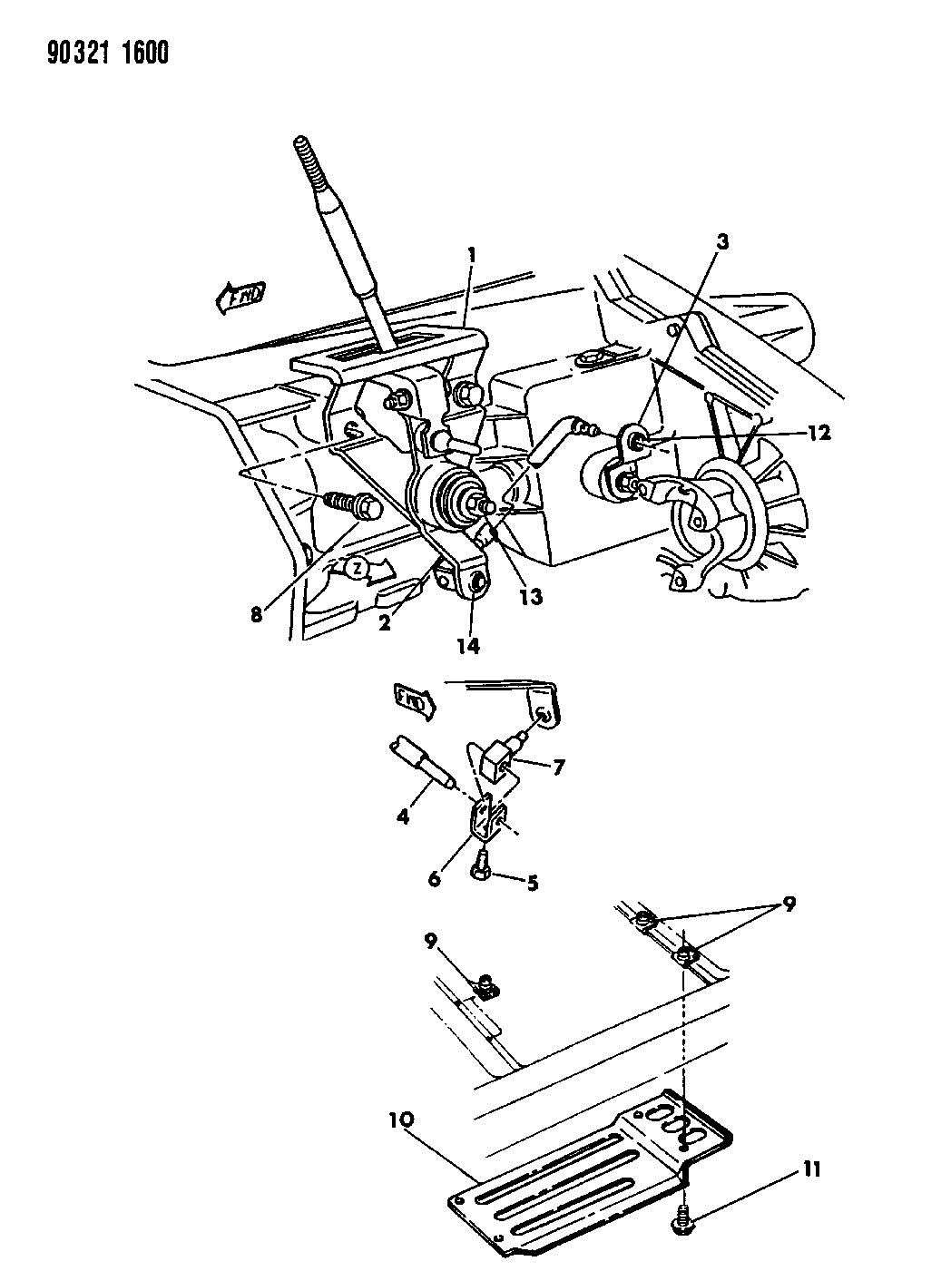 1993 Dodge Dakota Controls & Mounting, Transfer Case