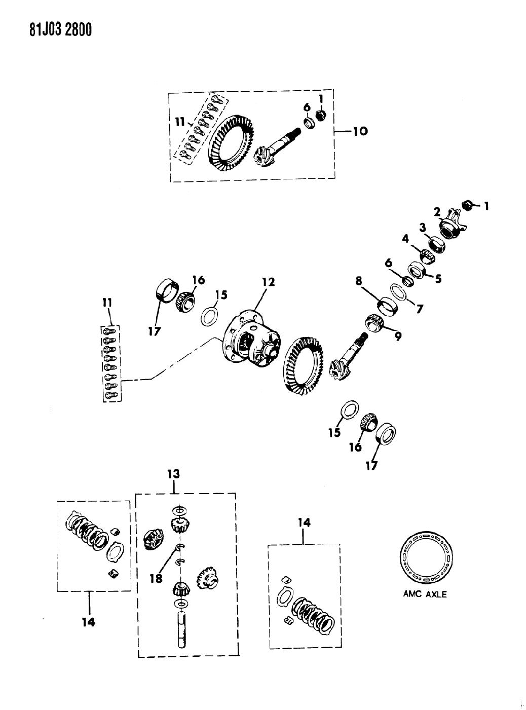 1986 Jeep J10 Differential Gears Mopar Parts Giant Diagram Thumbnail 2
