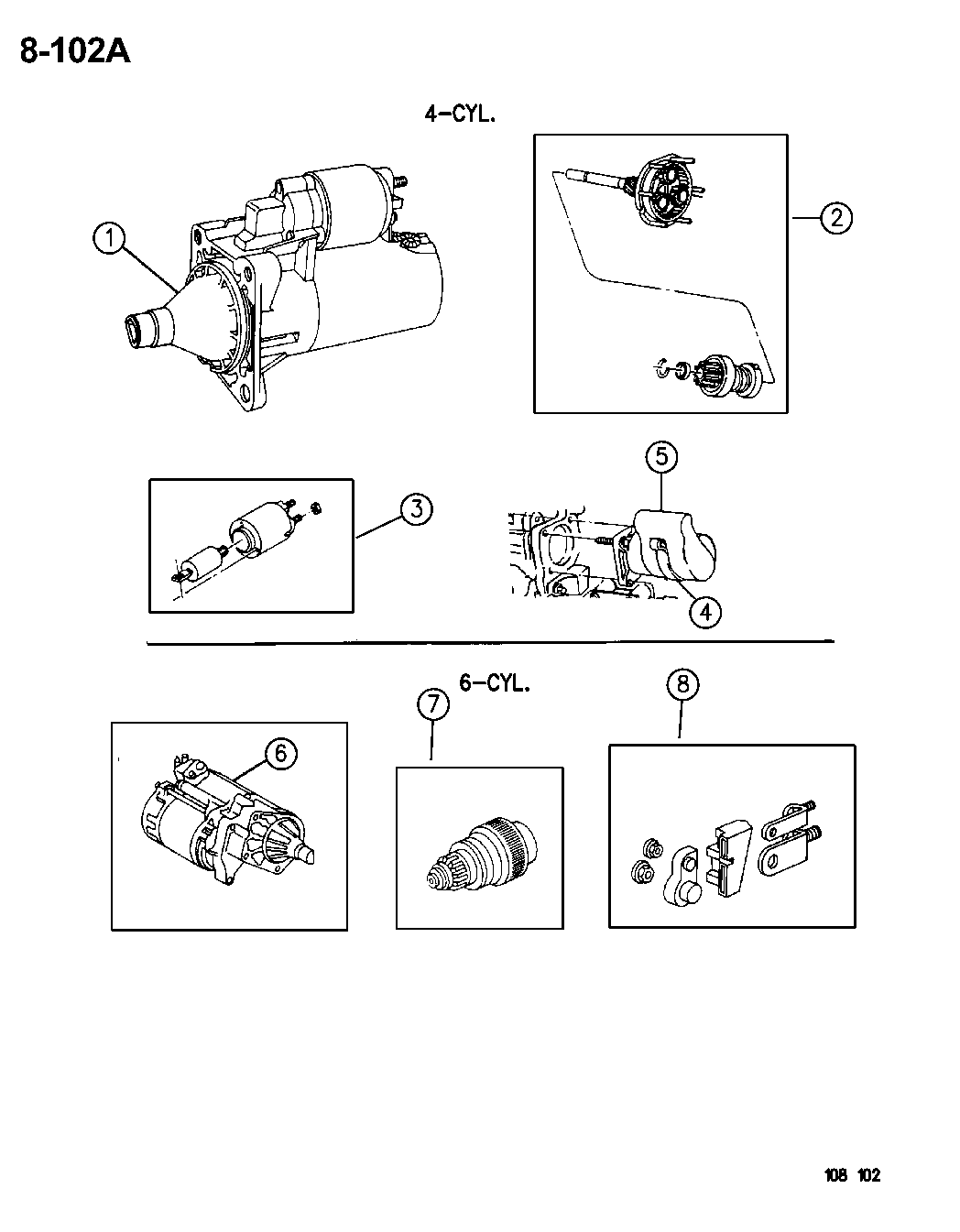 1996 Chrysler Sebring Convertible Starter Engine Motor Diagram