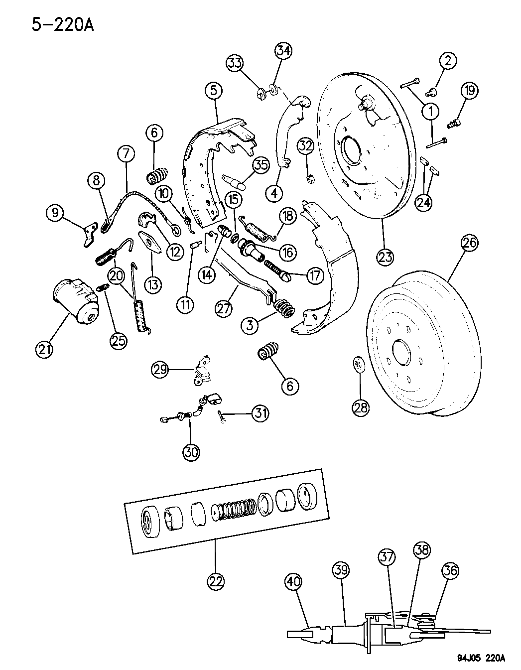 1996 Jeep Grand Cherokee Rear Drum Brakes Mopar Parts Giant Brake Diagram P