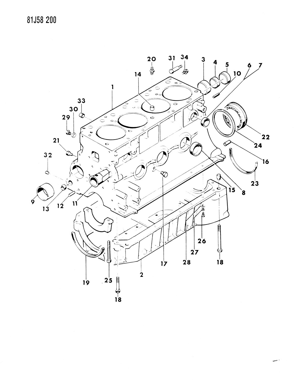1984 Jeep Wrangler Block, Engine - Thumbnail 1