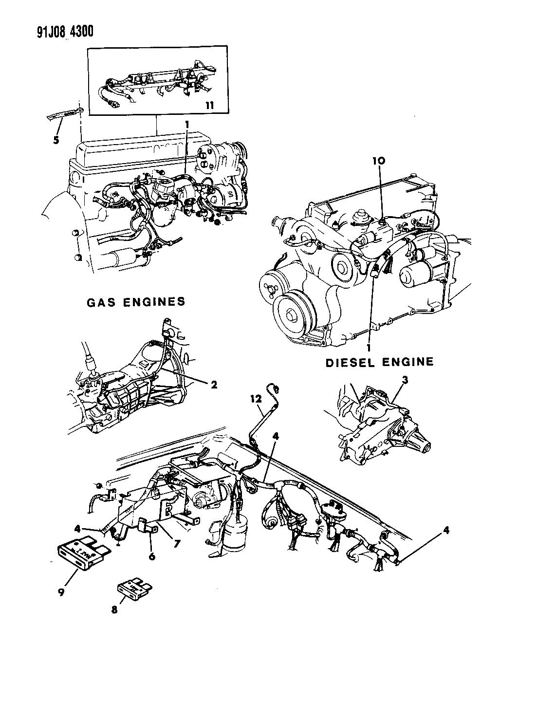 1991 Jeep Comanche Wiring