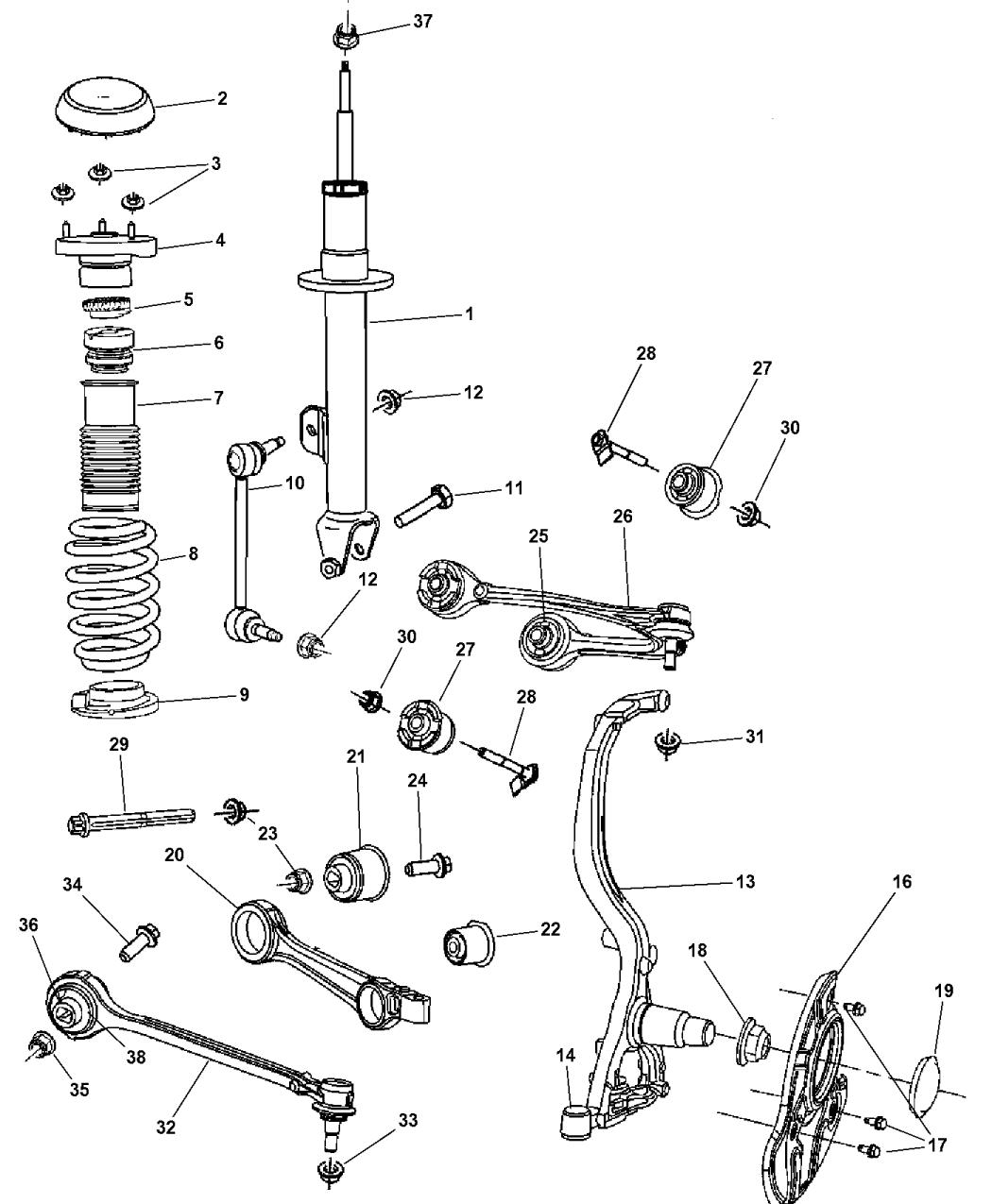 2006 Chrysler 300 Front Suspension Diagram
