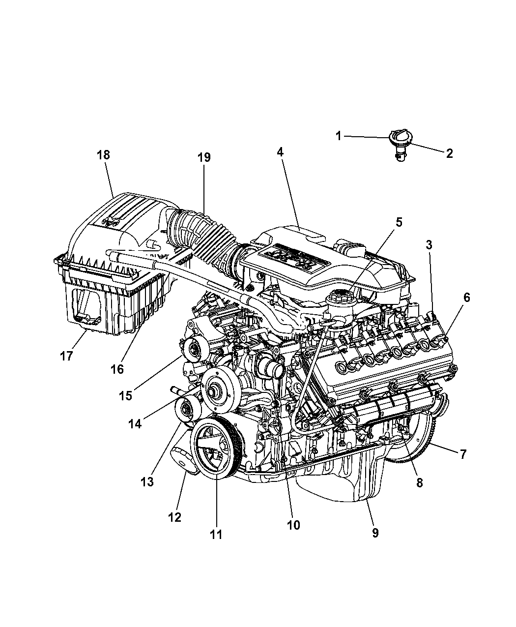 2008 Dodge Ram 1500 Engine Diagram