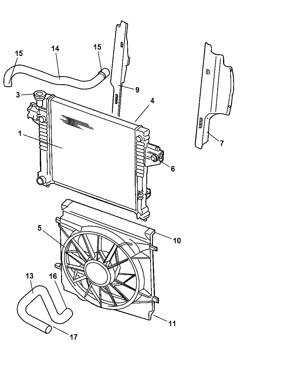 cooling system diagram on 2003 jeep liberty cooling system