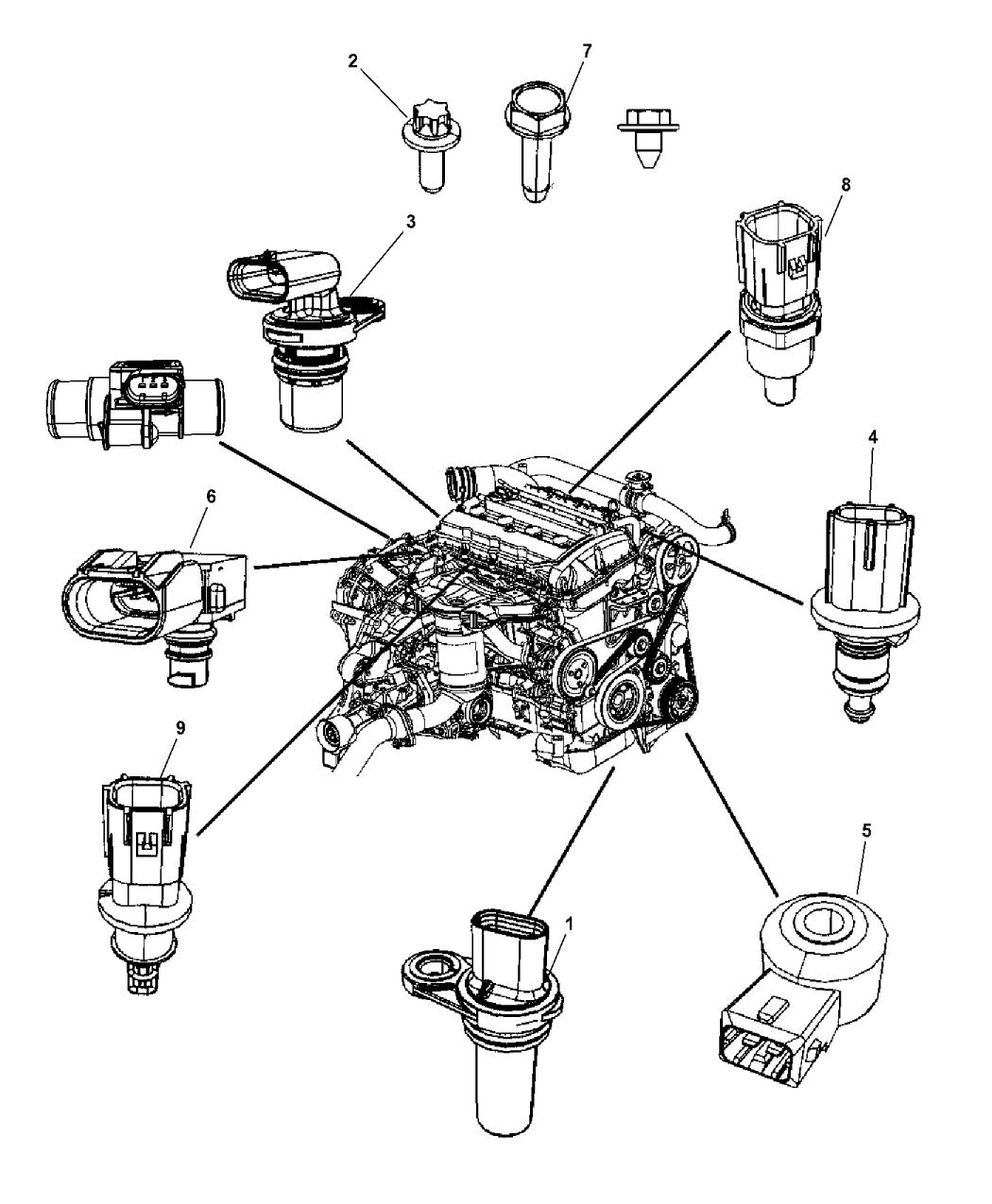 2014 Jeep Patriot Sensors - Engine