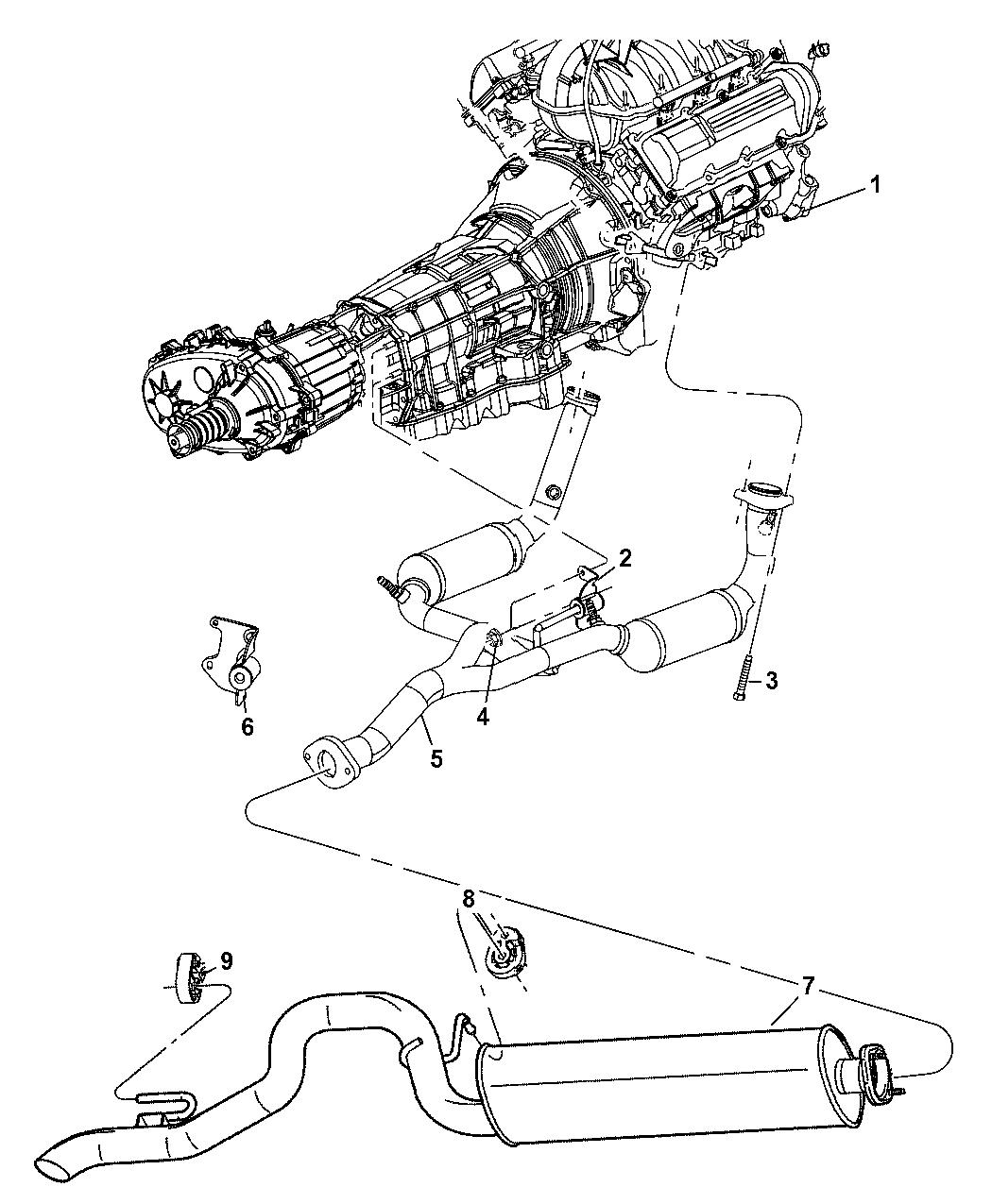 2005 Jeep Liberty Exhaust System - Thumbnail 3