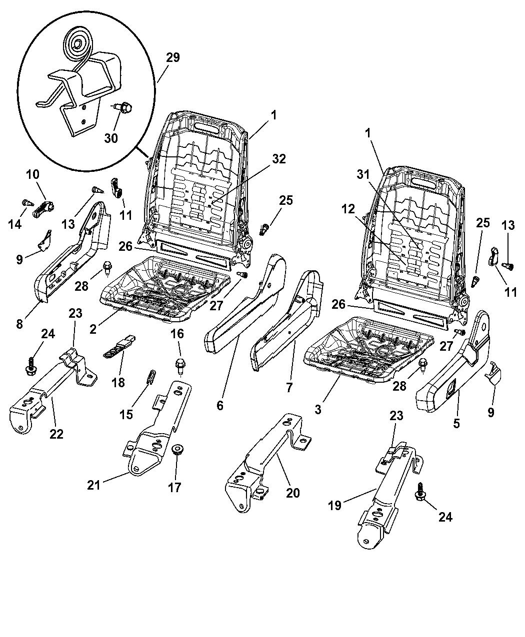 2005 dodge durango interior parts