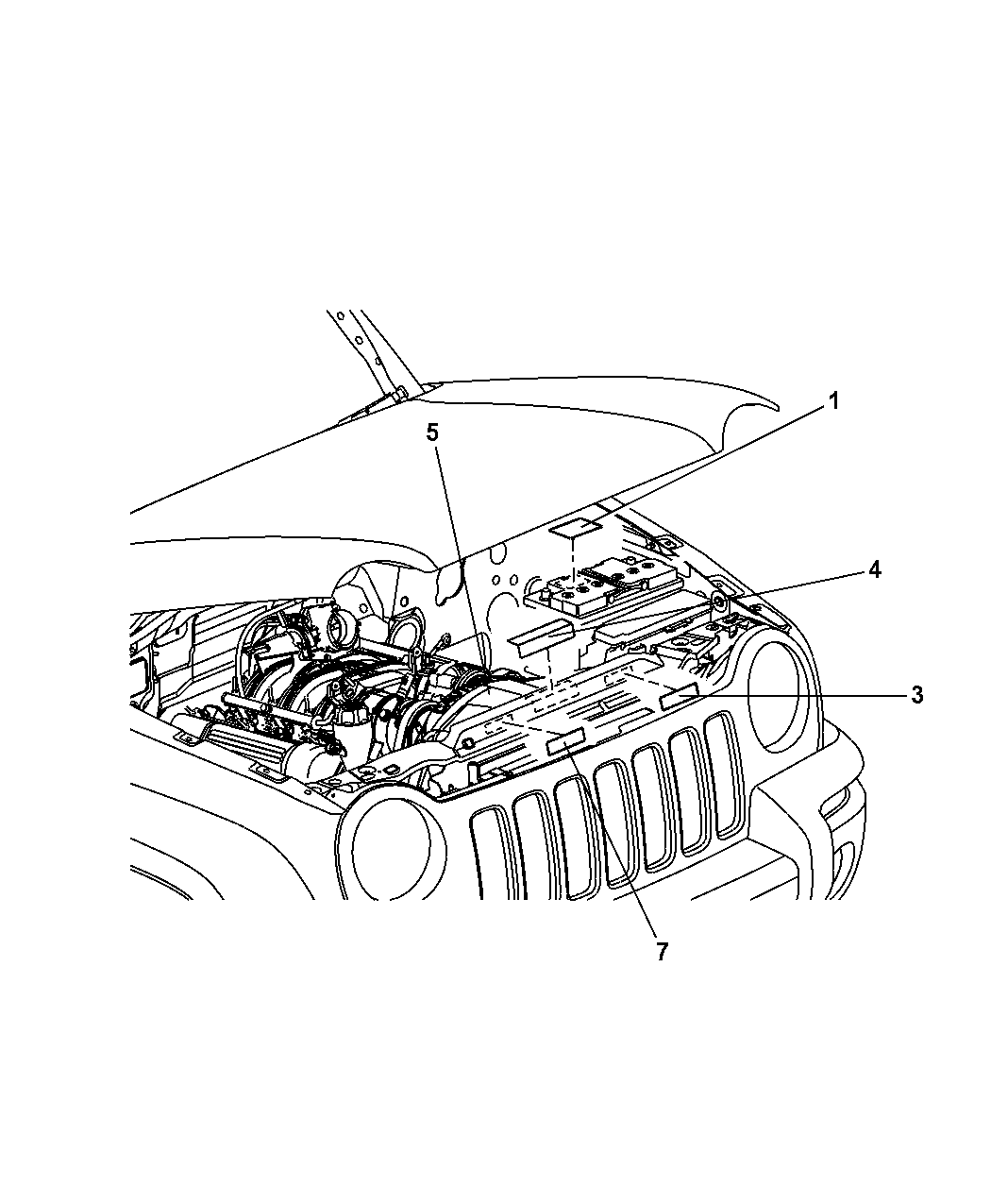 2003 Jeep Liberty Engine Diagram Label • Wiring Diagram