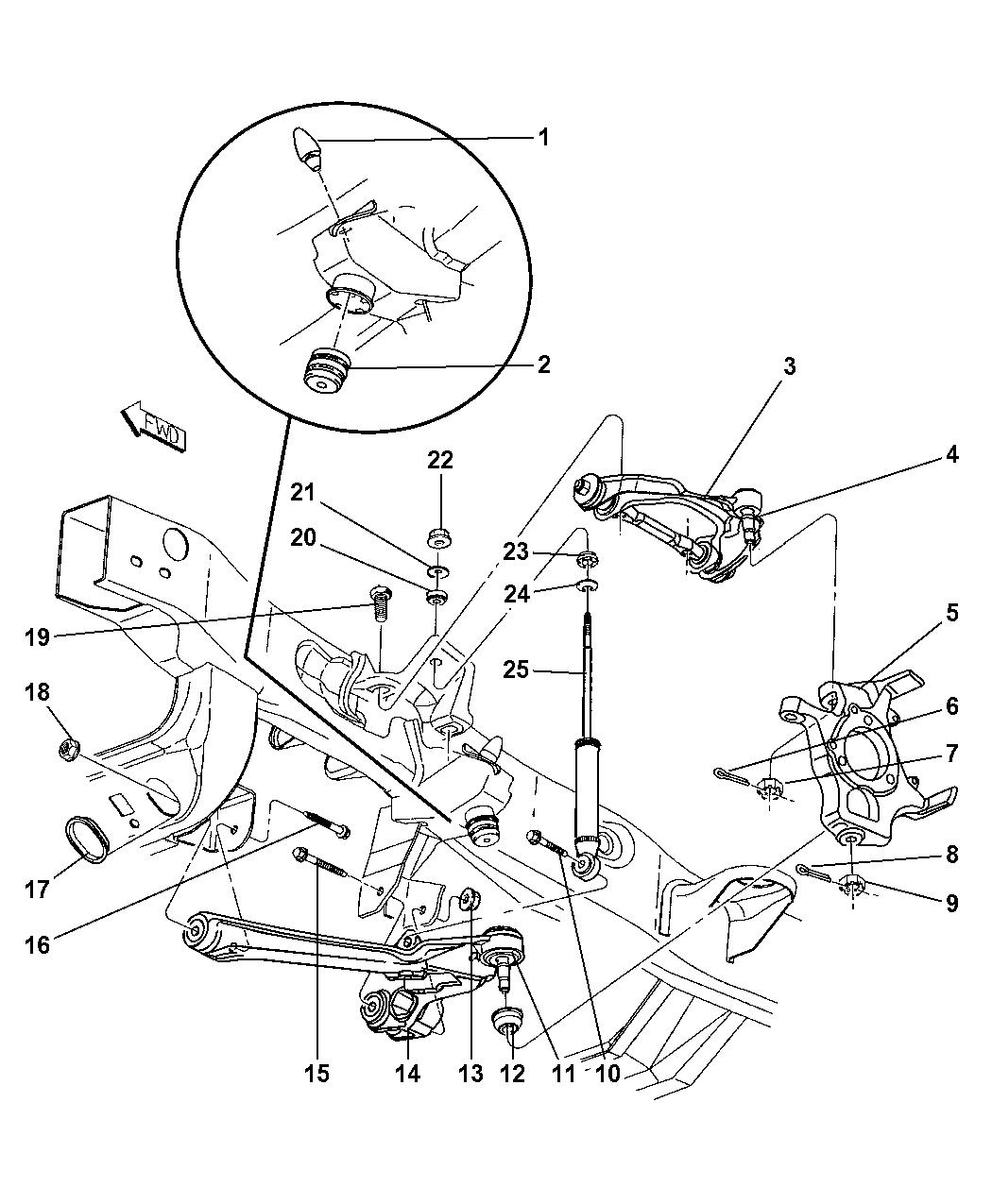 1998 dodge durango front suspension control arms, shocks, knuckle04 Durango Rear Suspension Diagram #12
