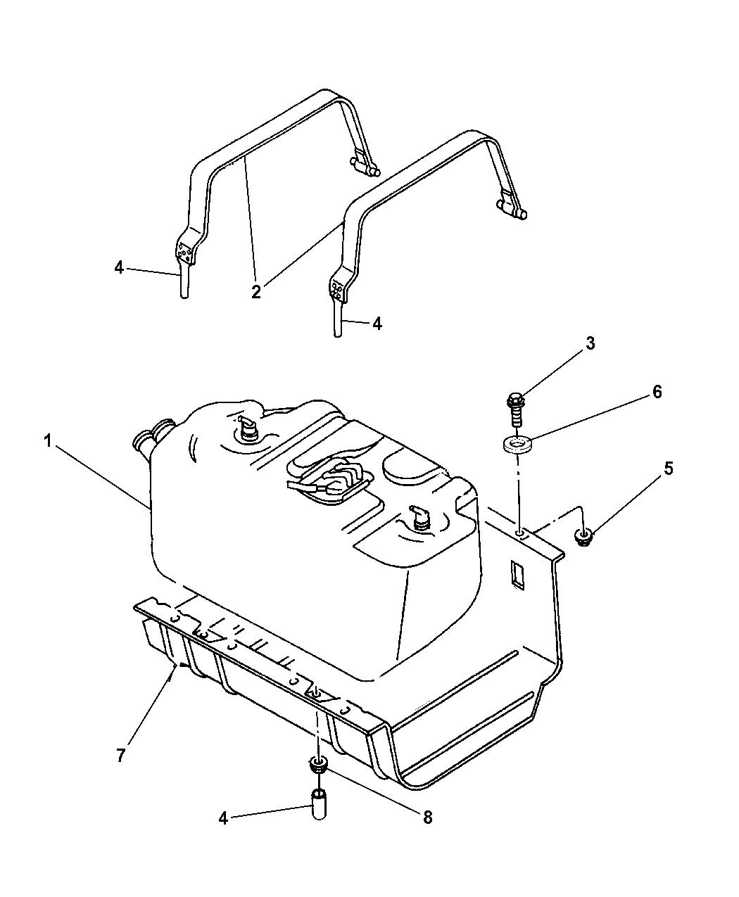 52059617ae - genuine mopar tank-fuel
