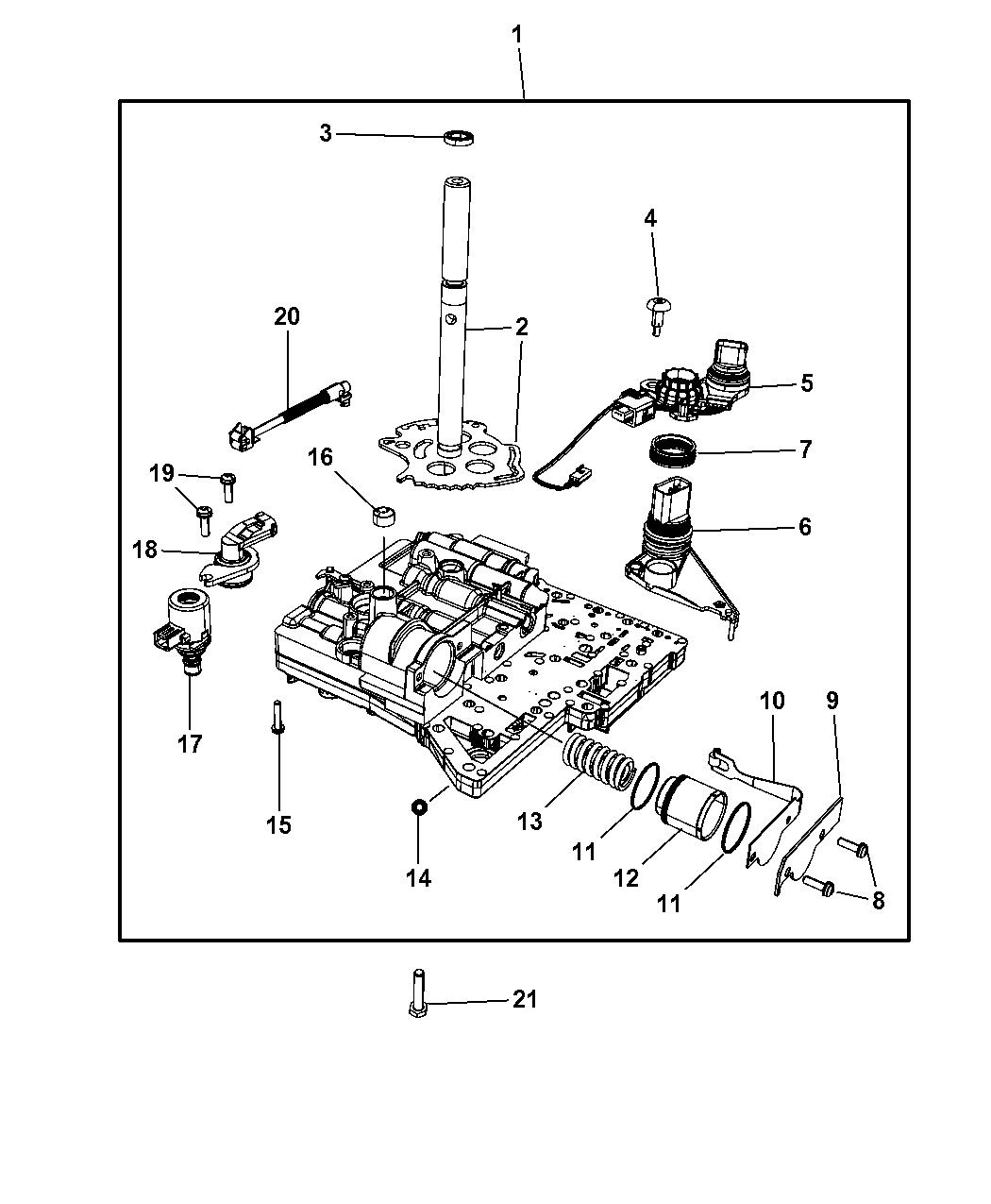 2009 Chrysler Pt Cruiser Valve Body Related Parts Fuel Filter