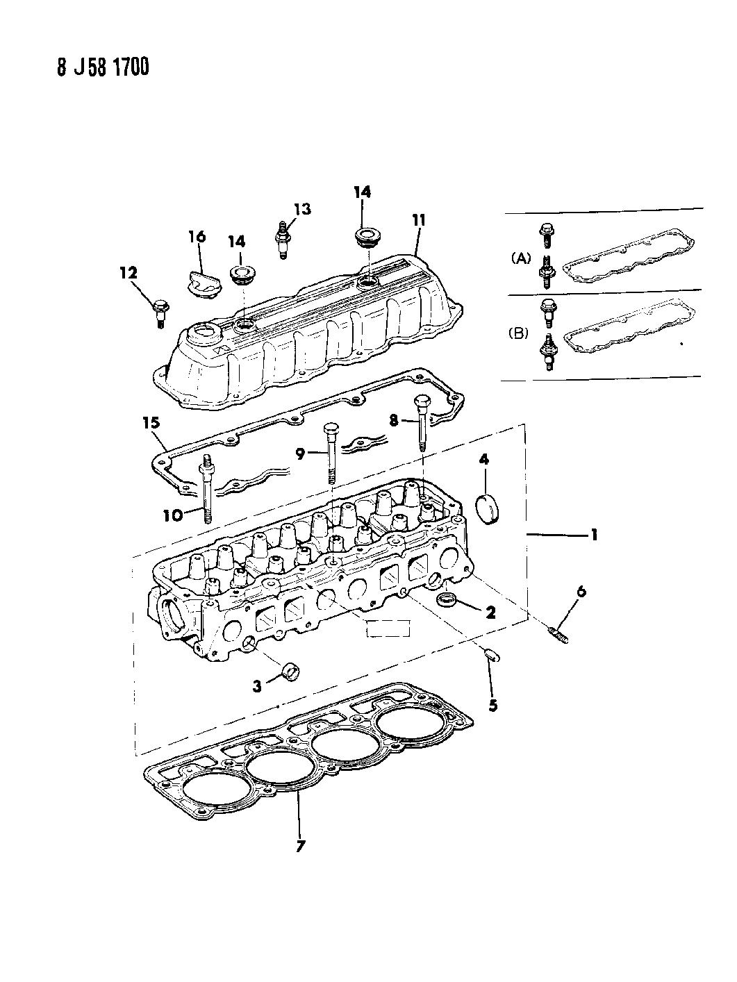 1987 Jeep Comanche Cylinder Head Gasket