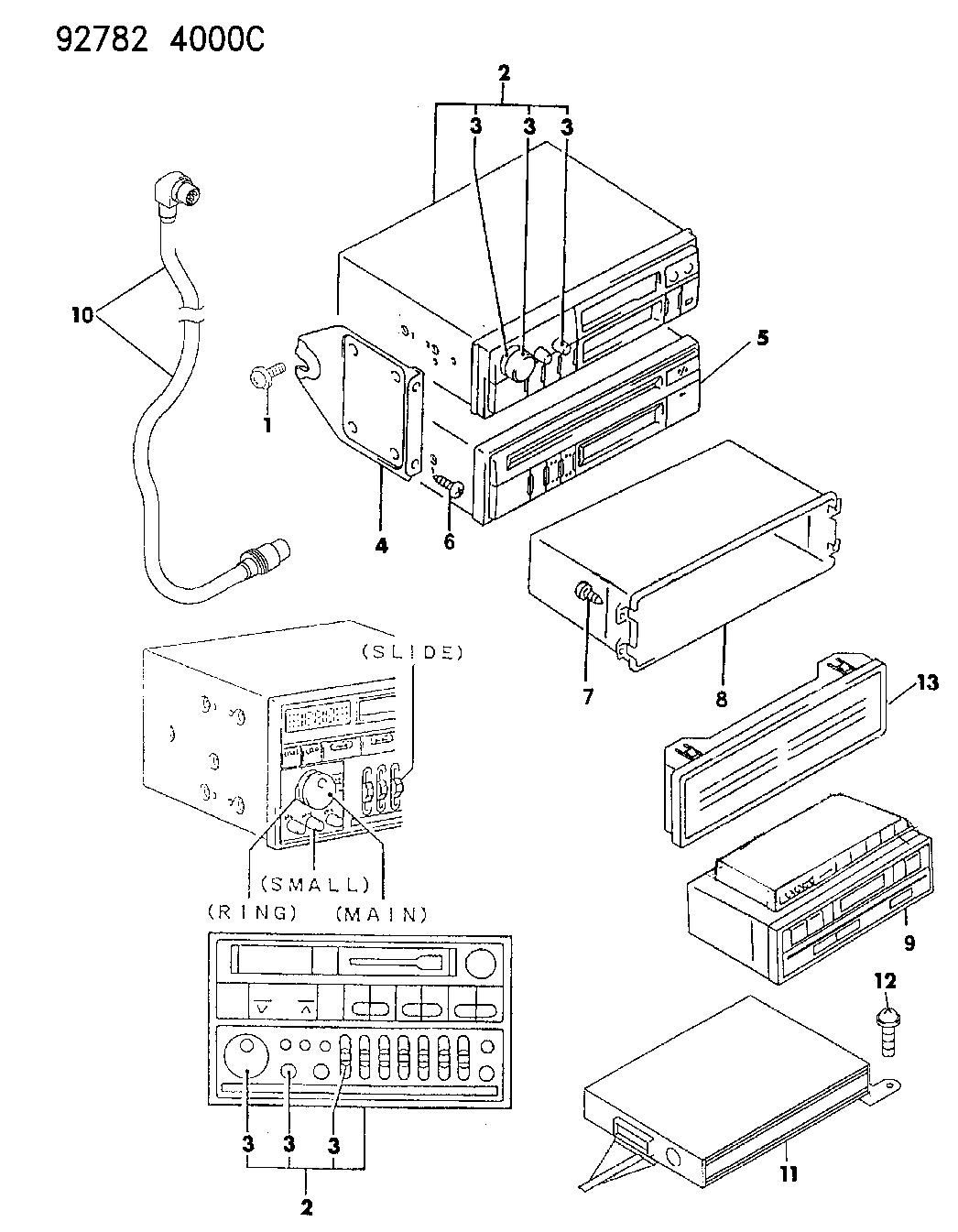 1992 Dodge Stealth Radio Mopar Parts Giant 92 Wiring Diagram