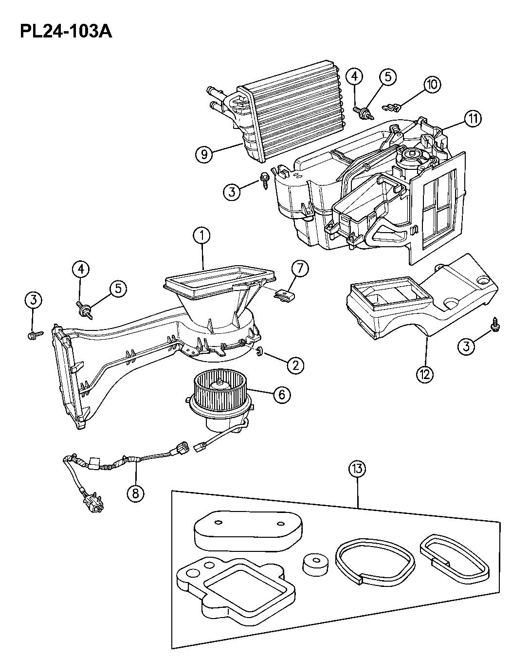 1996 Dodge Neon Heater Unit Mopar Parts Giant L24 Engine Diagram