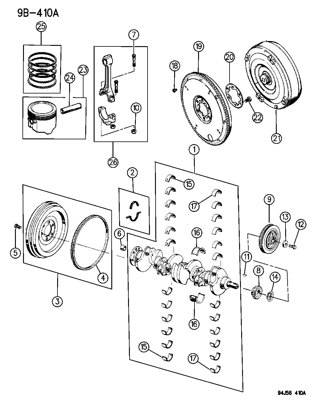 1996 Jeep Grand Cherokee Crankshaft, Piston And Torque
