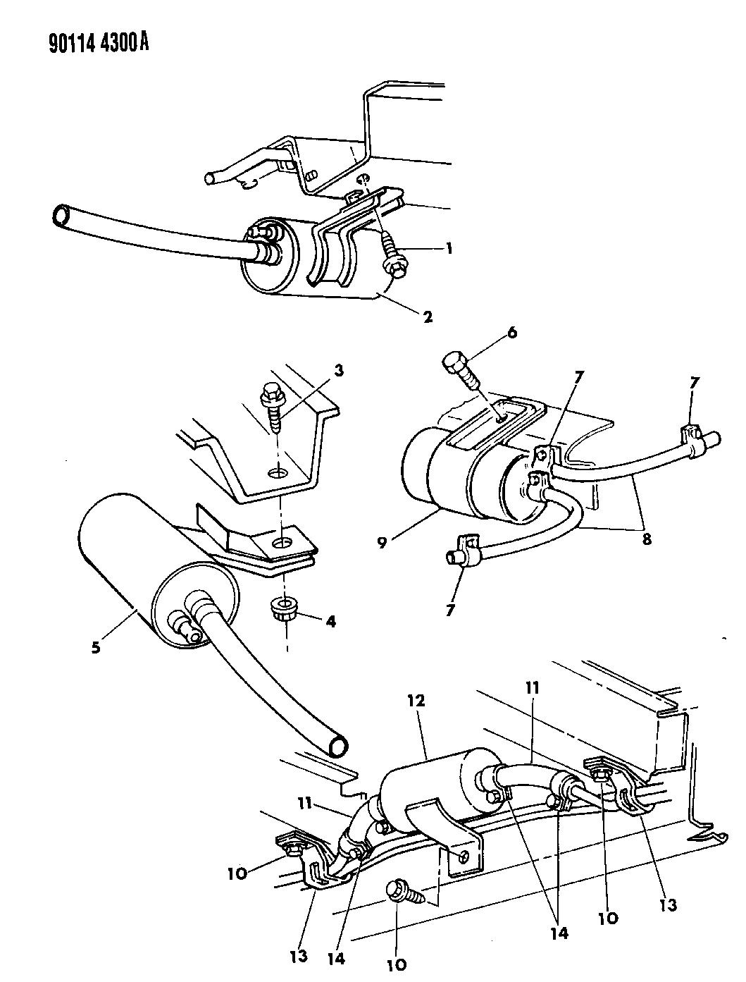 1990 Chrysler LeBaron Sedan Fuel Filter
