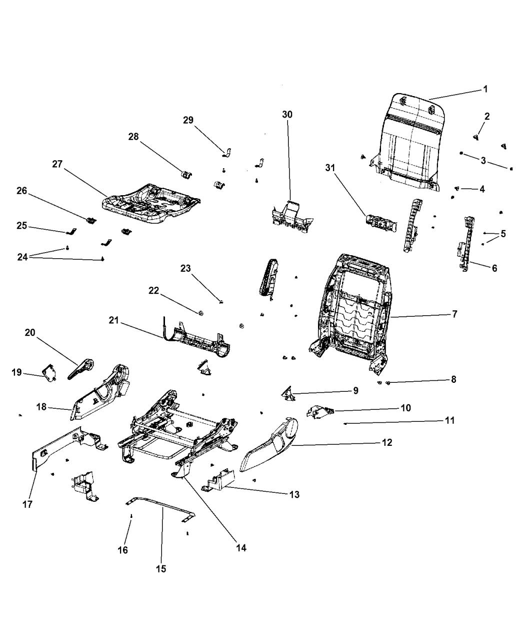 2011 Jeep Patriot Adjusters, Recliners & Shields