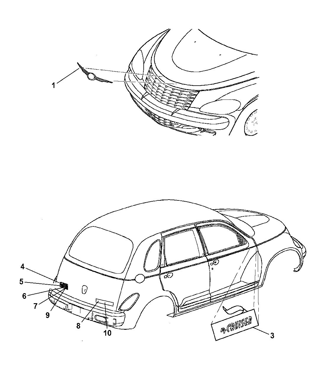 Chrysler Genuine 5303620AA Nameplate