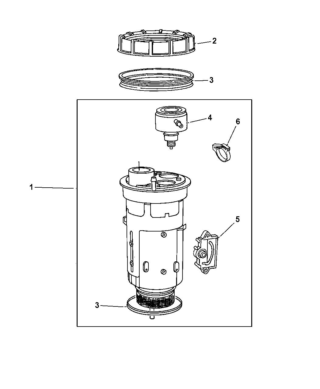 1997 Jeep Grand Cherokee Fuel Module - Mopar Parts Giant