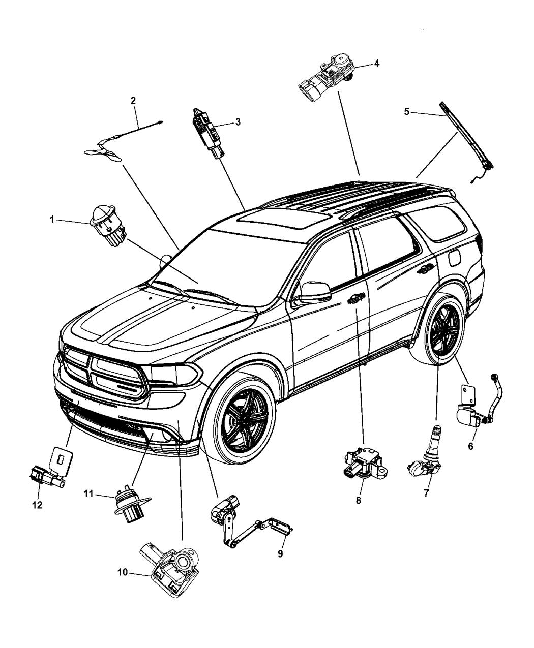 2001 Dodge Durango Parts Diagram