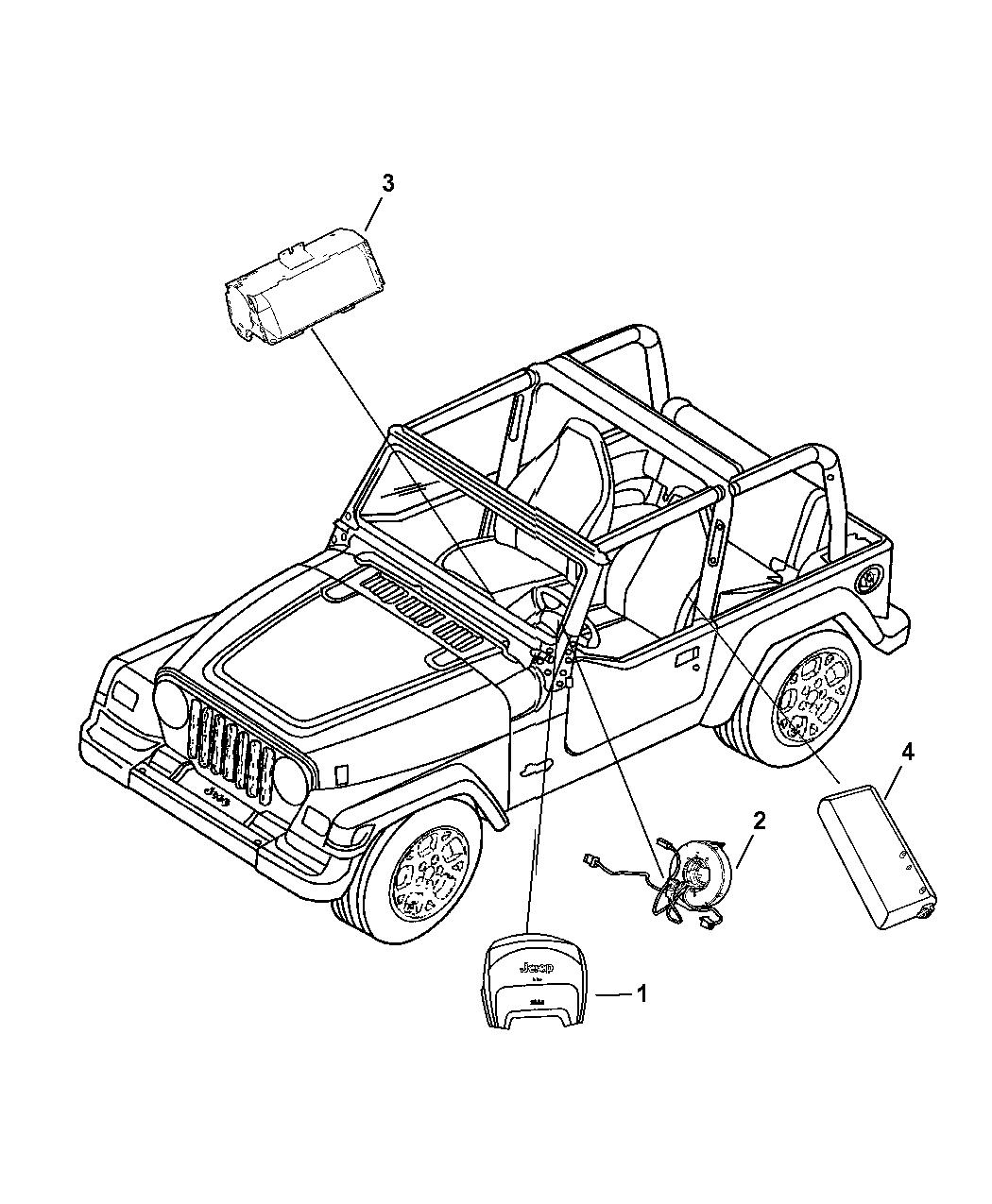 2007 Jeep Wrangler Air Bags & Clock Spring - Mopar Parts Giant Jeep Tj Clock Spring Wiring Diagram on