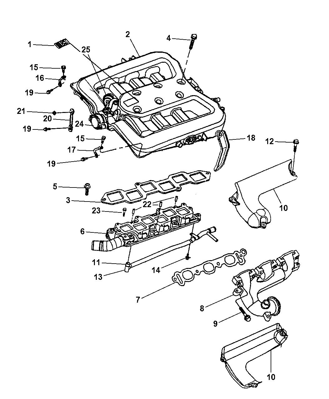 Genuine Dodge PLENUM-INTAKE MANIFOLD