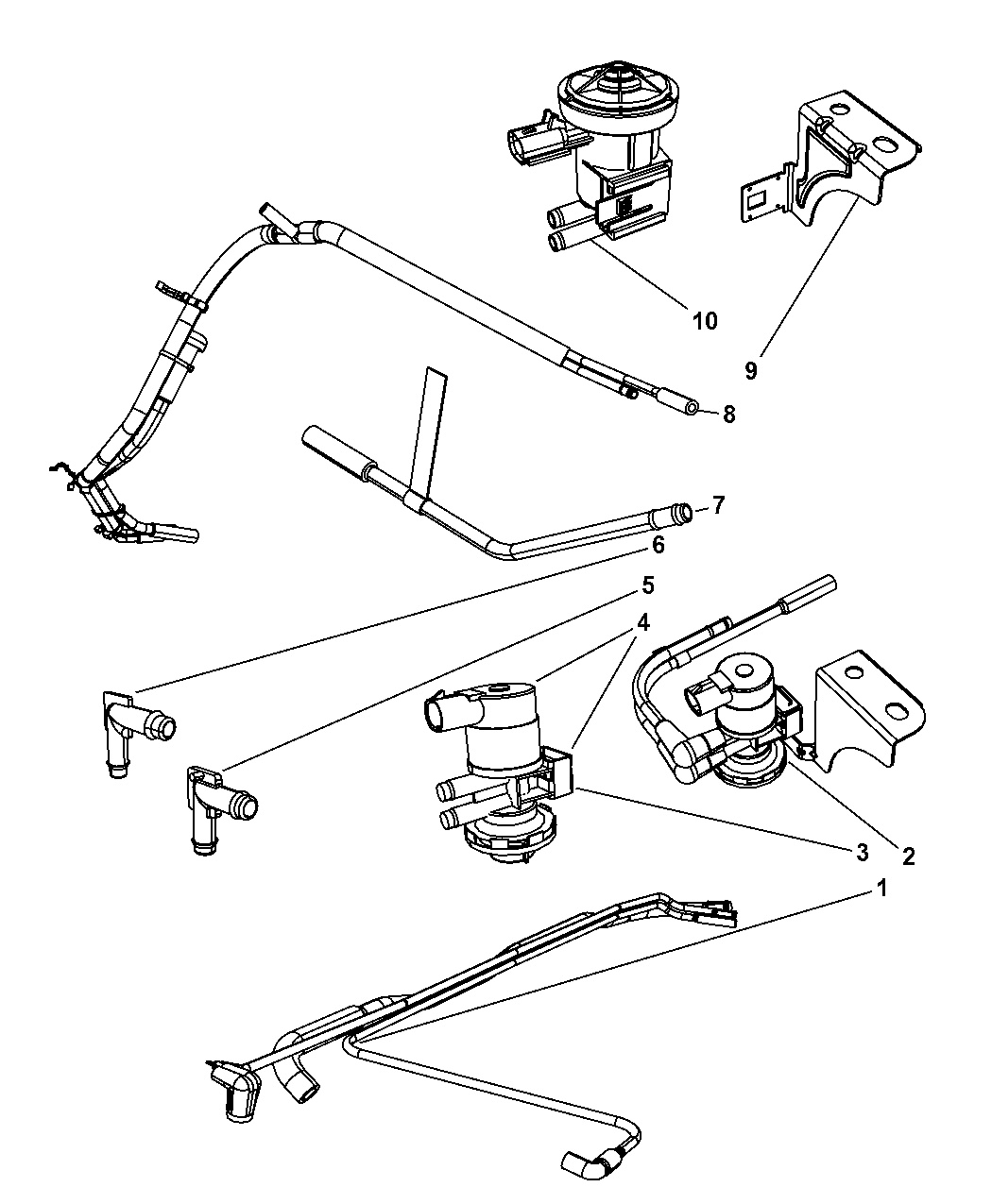 dodge ram 1500 fuel system diagram 52121035ac genuine mopar harness vacuum emission  genuine mopar harness vacuum emission