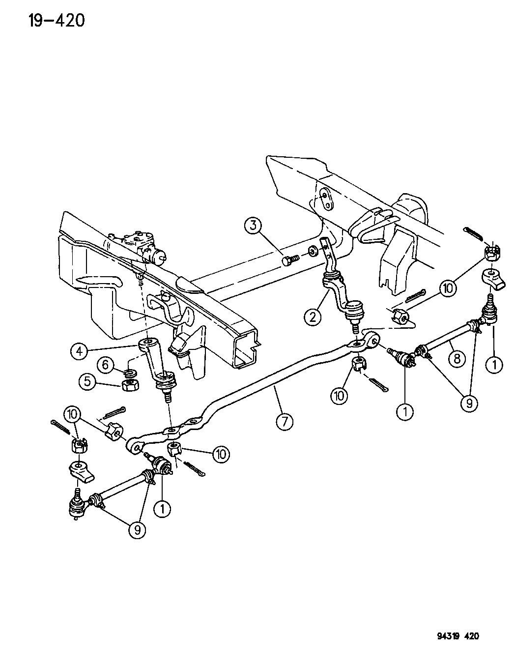 1994 Dodge Dakota Linkage, Steering - Mopar Parts Giant