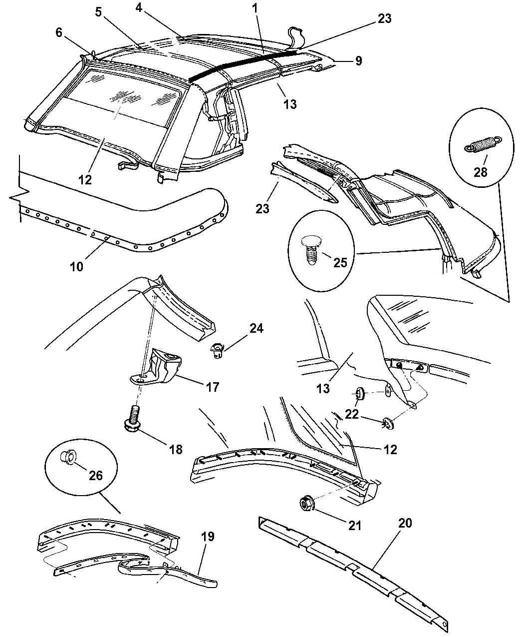 Genuine Chrysler PLUG-FOLDING TOP MOTOR