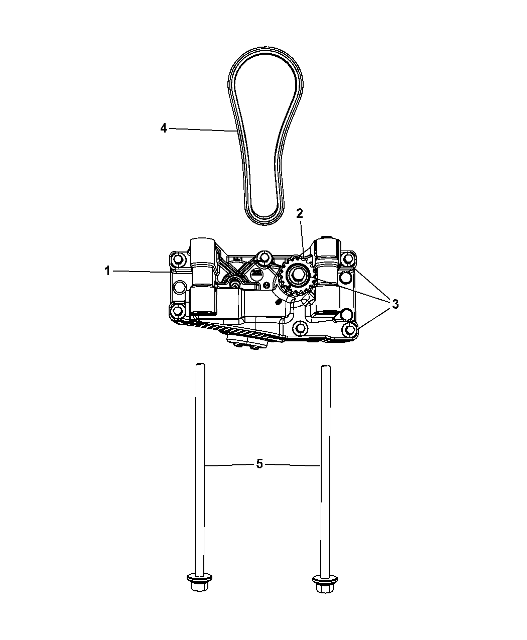 2010 Chrysler Sebring Balance Shaft Oil Pump Assembly Engine Diagram Thumbnail 2