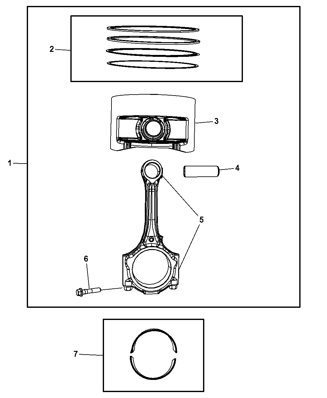 2011 Jeep Wrangler Pistons, Piston Rings, Connecting Rods & Connecting Rod  Bearing - Thumbnail