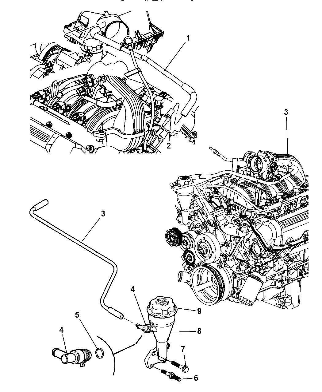 2007 Dodge Nitro Crankcase Ventilation - Thumbnail 1