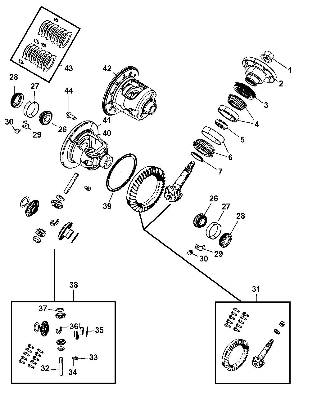 4798912ad Genuine Mopar Gear Kit Center Differential