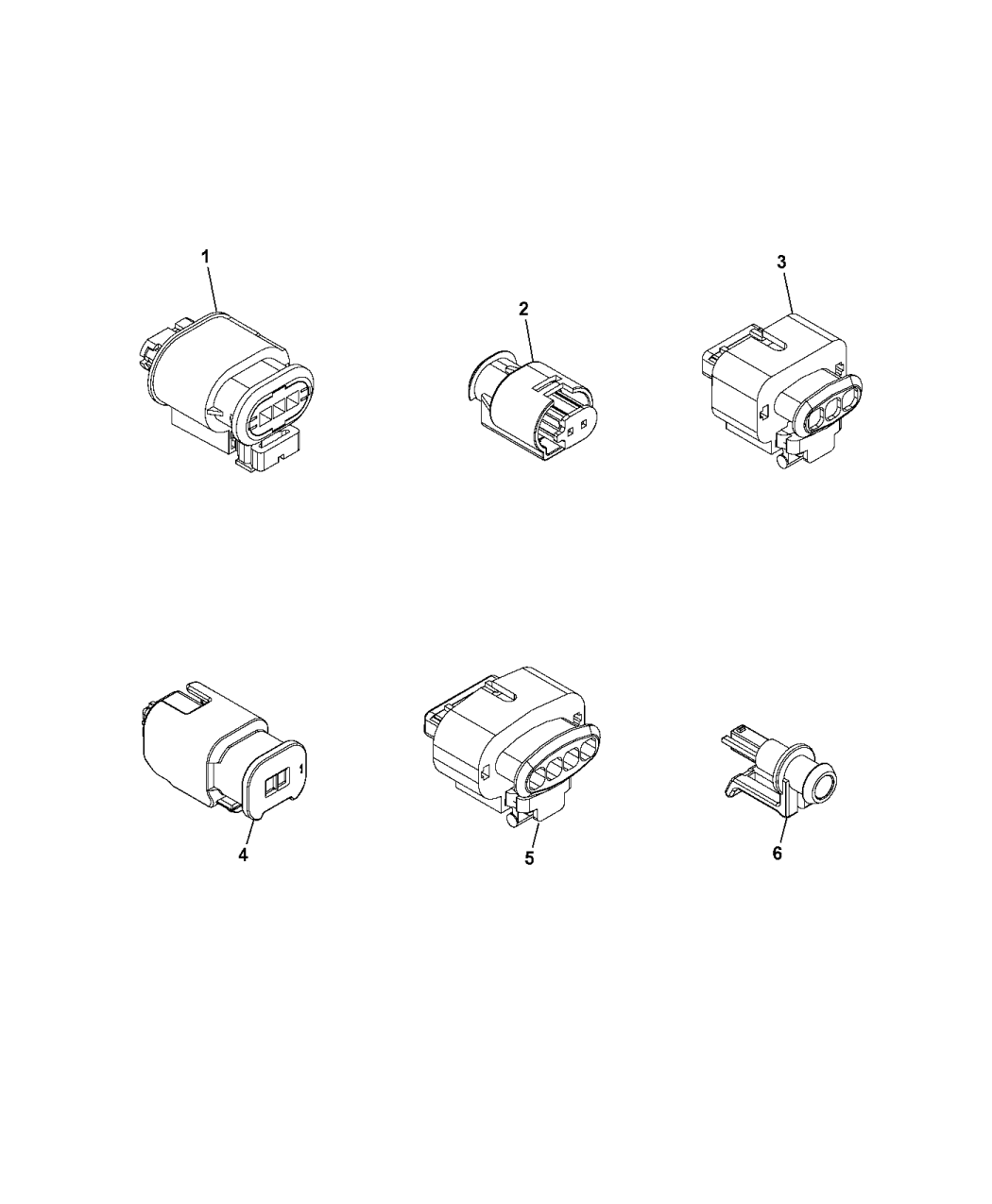 2015 Jeep Renegade Wiring Repair Connectors - Thumbnail 1