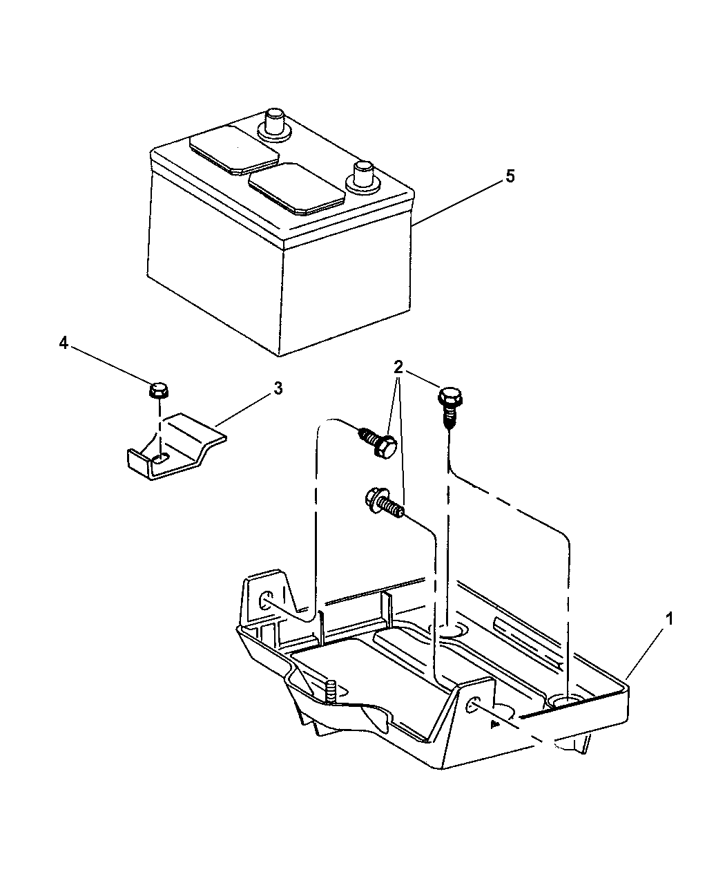 4786689 Genuine Mopar Wiring Battery Negative Plymouth Prowler Diagrams 2002 Chrysler Trays Cables