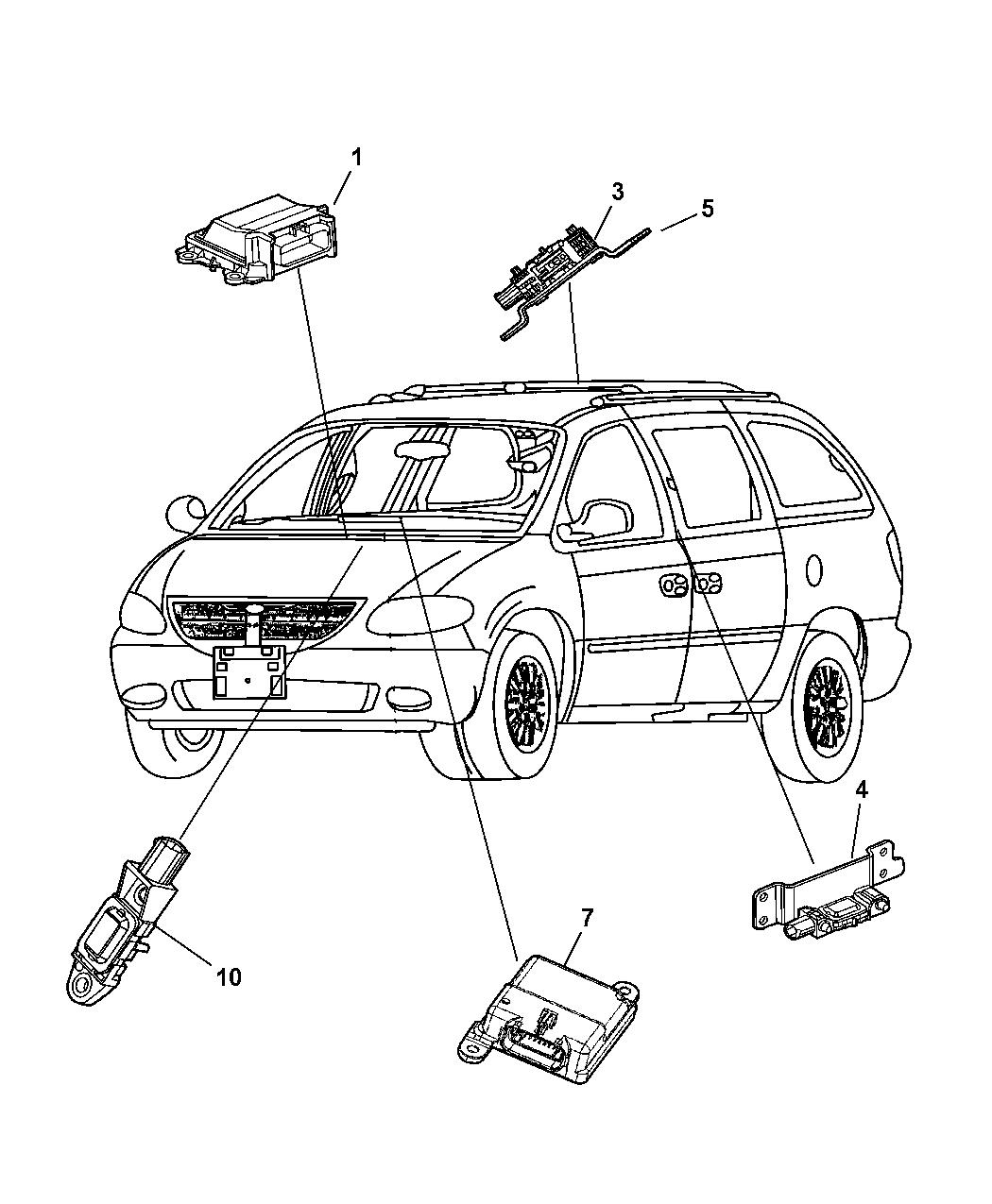 2006 Chrysler Town & Country Air Bag Modules & Sensors