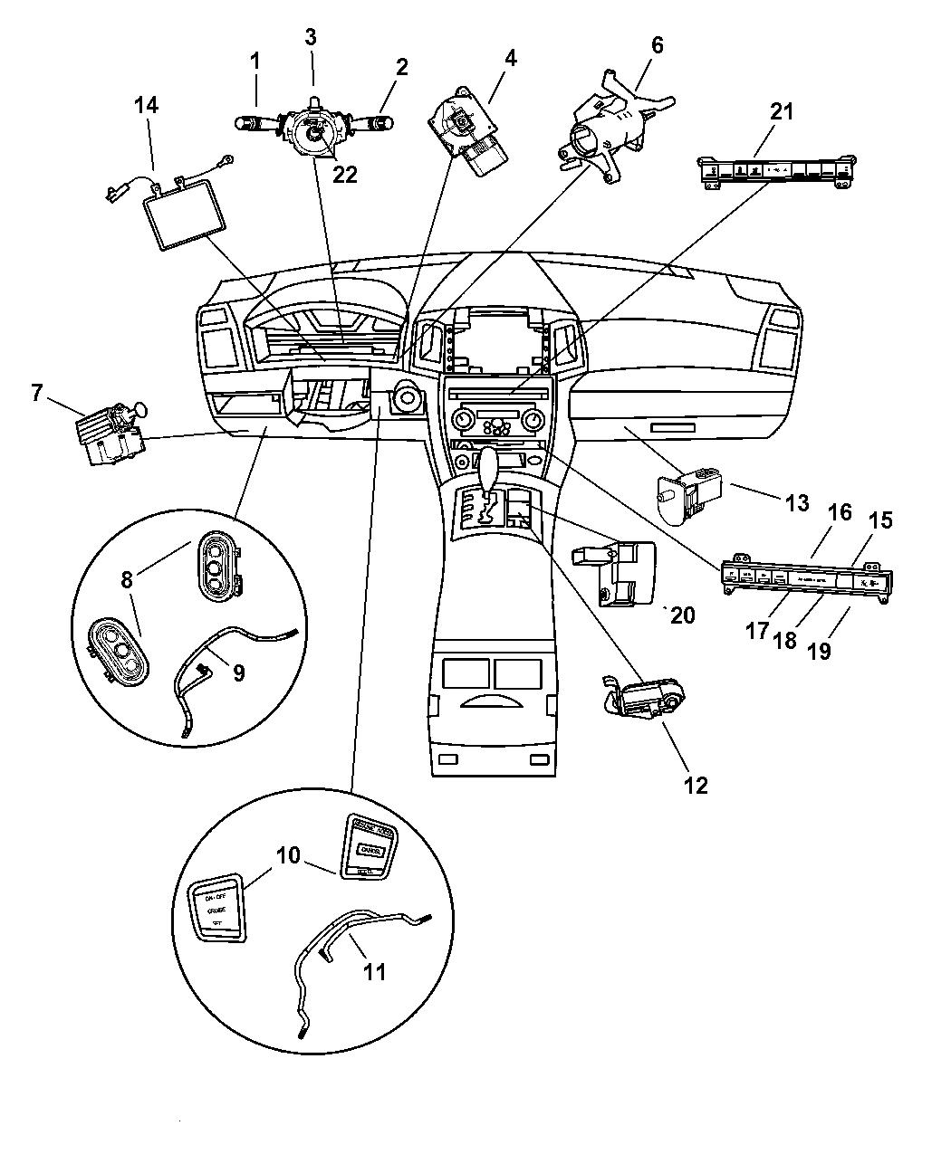 Genuine Jeep SWITCH-MULTIFUNCTION