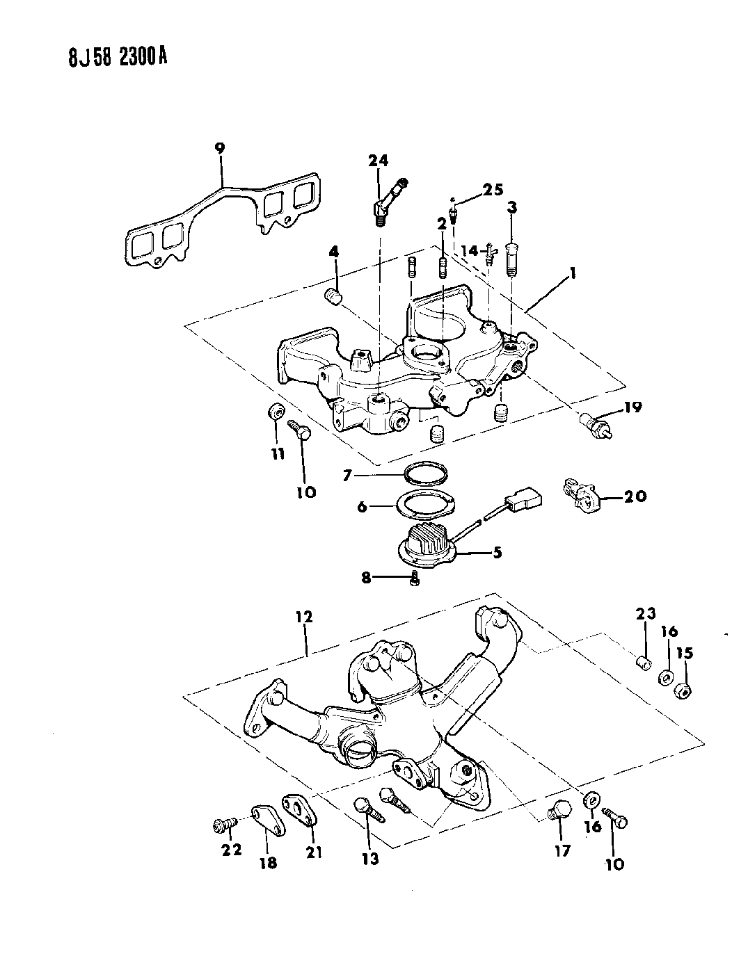 1989 Jeep Wrangler Manifold Intake Exhaust Engine Diagram Thumbnail 5