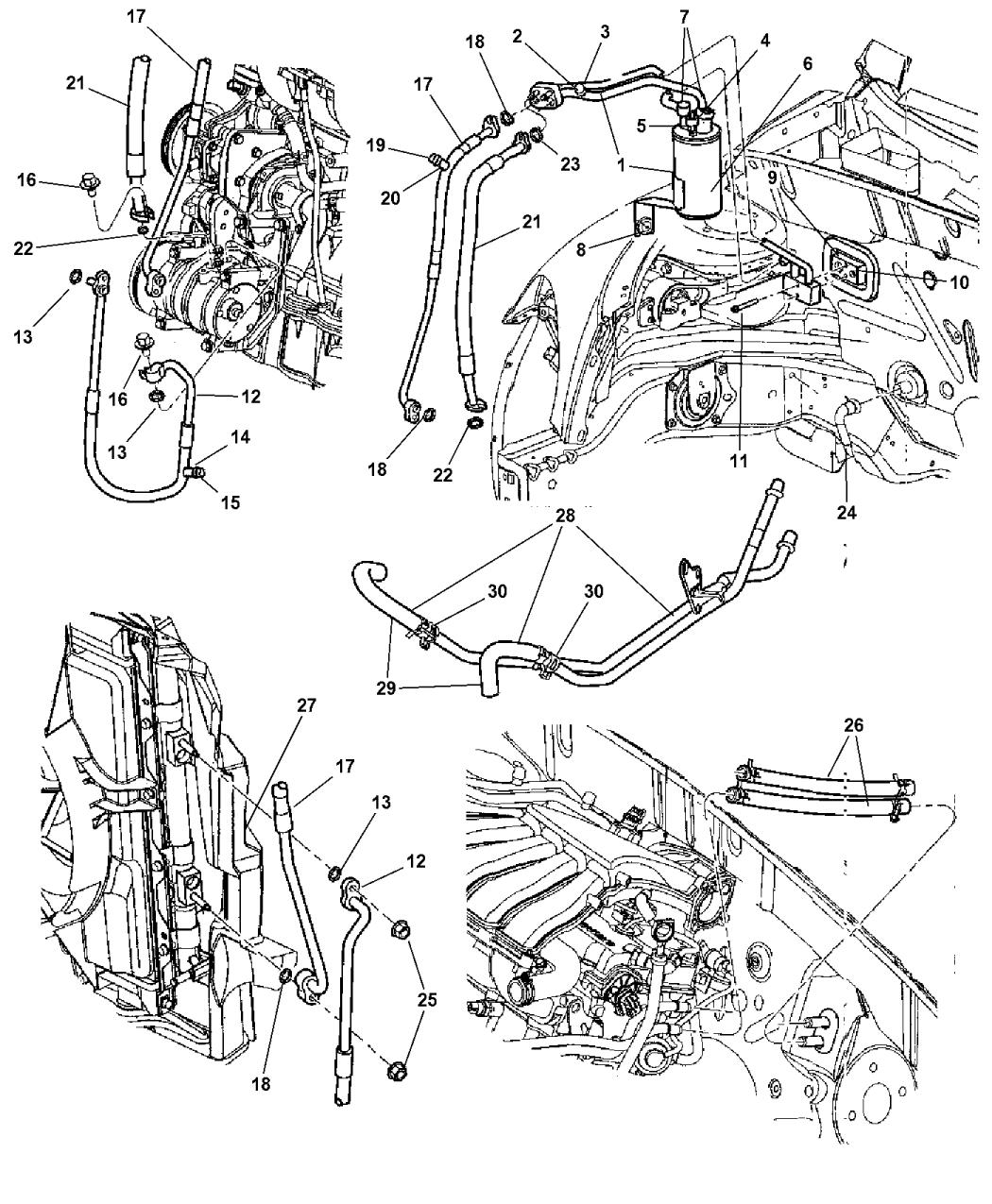 Genuine Chrysler 5058273AF A//C Suction Line