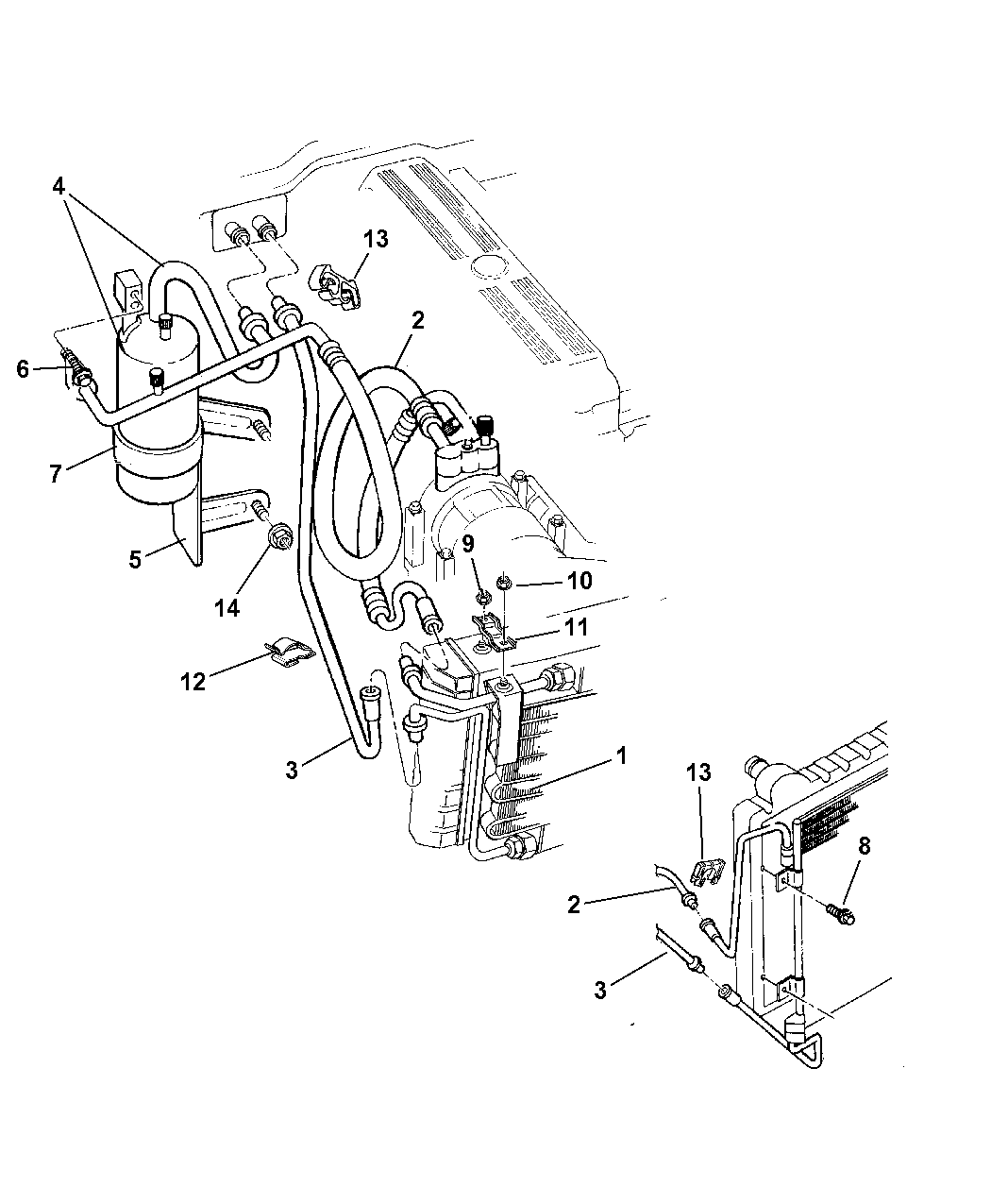 1999 Jeep Cherokee Plumbing - A/C - Mopar Parts Giant