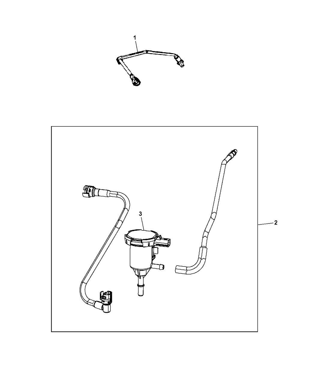 2014 Jeep Patriot Emission Control Vacuum Harness
