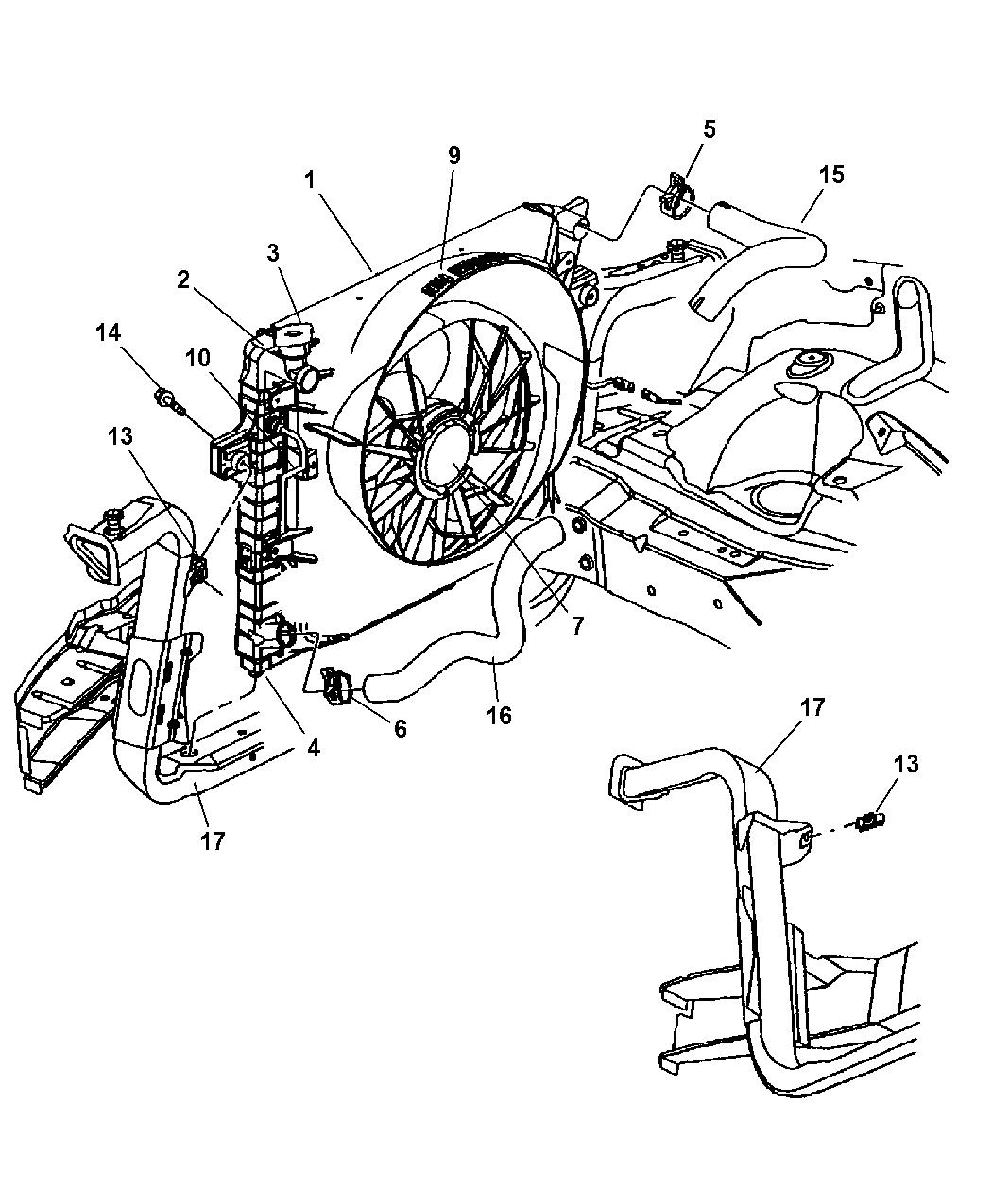 2000 Jeep Grand Cherokee Radiator U0026 Related Parts   Thumbnail 1