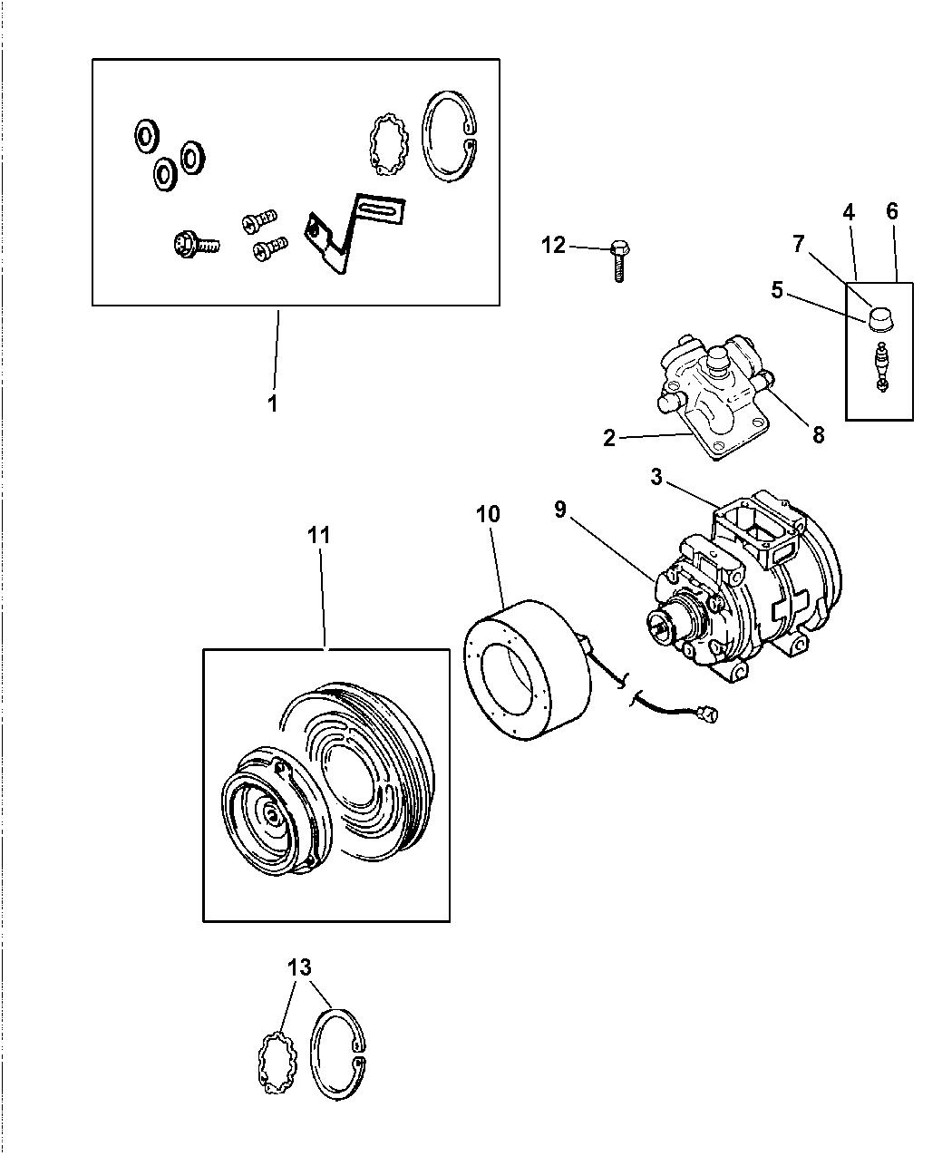 2000 Chrysler Concorde Compressor  U0026 Related Parts