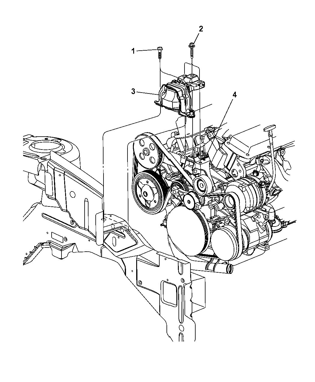 4861659AA - Genuine Mopar BRACKET-ENGINE MOUNT