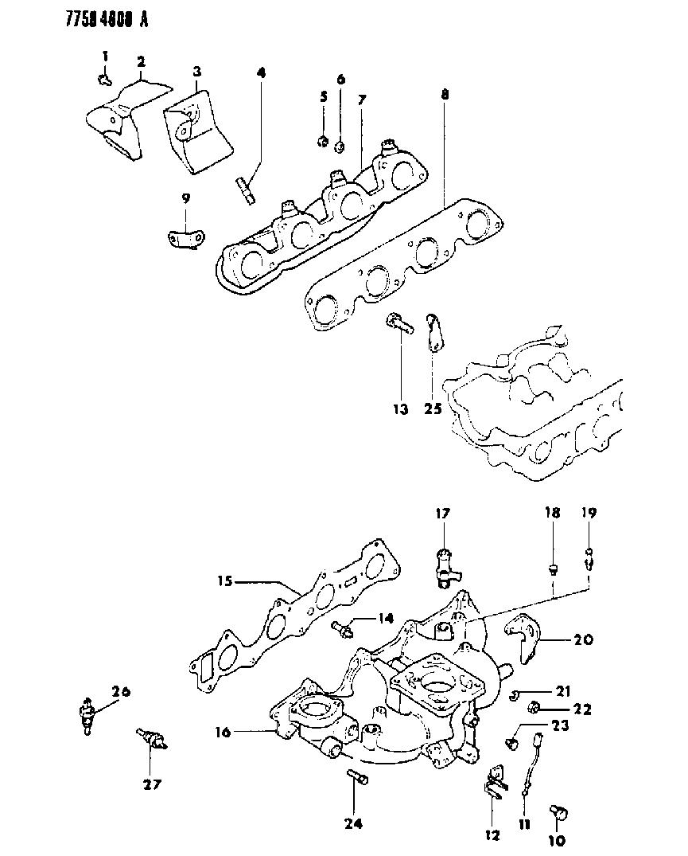1988 dodge ram 50 manifold - intake & exhaust - thumbnail 1